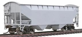 Trainman Offset 2-Bay Open Hopper Undecorated HO Scale Model Train Freight Car #18890