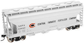 Trainman 3560 Centerflow Covered Hopper Central Farmers HO Scale Model Train Freight Car #20001138