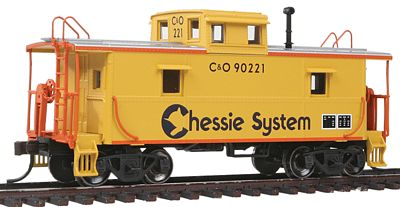 Atlas Trainman Steel Center-Cupola Caboose Chessie System #9022 -- HO Scale Model Train Freight Car -- #20002413