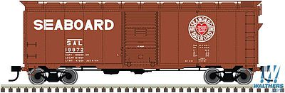 Atlas Trainman 40' Boxcar Kit - Seaboard Air Line #19872 -- HO Scale Model Train Freight Car -- #20003800