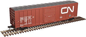 Trainman ACF(R) 50'6'' Boxcar Canadian National #419344 HO Scale Model Train Fregiht Car #20003889