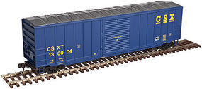 Trainman ACF(R) 506 Boxcar CSX #136010 (blue, yellow) HO Scale Model Train Fregiht Car #20003891