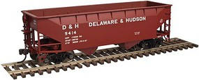 Trainman 2-Bay Offset-Side Hopper w/Flat Ends 3-Pack- Ready to Run Delaware & Hudson #9491, 9514, 9630