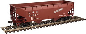 Trainman 2-Bay Offset-Side Hopper w/Flat Ends - Ready to Run Louisville & Nashville #60625 (Old Reliable)