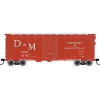 Trainman 40 Single-Door Boxcar - Detroit & Mackinac #2825 HO Scale Model Train Freight Car #21000051