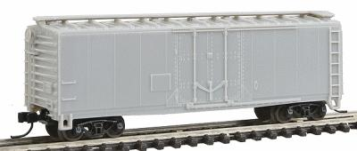 Trainman Trainman(R) 40 Plug-Door Boxcar Undecorated N Scale Model Train Freight Car #3300