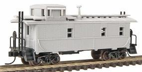 Trainman 34 Cupola Caboose - Ready to Run - Undecorated N Scale Model Train Freight Car #3560