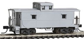 Trainman C&O-Style Steel Cupola Caboose Undecorated N Scale Model Train Freight Car #39800