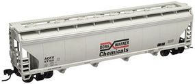 Trainman 4-Bay Covered Hopper Borg Warner Chemicals ACFX N Scale Model Train Freight Car #50000629
