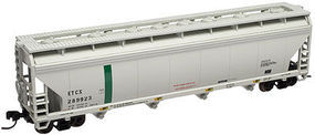 Trainman 4-Bay Covered Hopper Eastman Chemical ETCX #289893 N Scale Model Train Freight Car #50000638