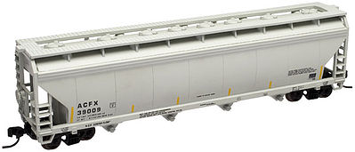 Atlas Trainman 4-Bay Covered Hopper Lifeline Foods #39003 -- N Scale Model Train Freight Car -- #50000648