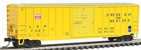 Trainman 50'6'' Boxcar Green Bay and Western #7087 N Scale Model Train Freight Car #50000768