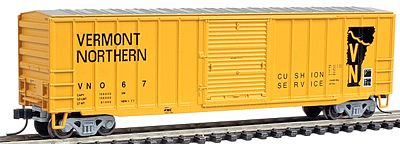 Atlas Trainman ACF(R) 50'6'' Boxcar Vermont Northern #367 -- N Scale Model Train Freight Car -- #50000772