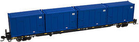 Trainman 85 Trash Container Flatcar USA Waste USWX #20355 N Scale Model Train Freight Car #50000812