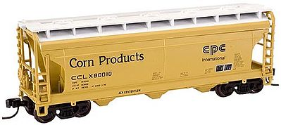 Atlas Trainman ACF 3650 Covered Hopper Corn Products 80028 -- N Scale Model Train Freight Car -- #50000920
