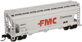 Trainman ACF 3650 Covered Hopper FMC 64138 N Scale Model Train Freight Car #50000922