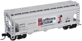 Trainman ACF(R) 3560 Center Flow Covered Hopper Watkins Salt N Scale Model Train Freight Car #50000923