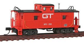 Trainman C&O-Style Steel Cupola Caboose Grand Trunk Western N Scale Model Train Freight Car #50001210