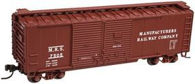 Trainman 40 Double Door Boxcar Manufacturers Railway Company N Scale Model Train Freight Car #50001277