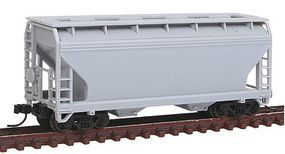 Trainman 2-Bay Centerflow Hopper Undecorated N Scale Model Train Freight Car #50001297