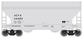 Trainman 2-Bay Centerflow Hopper - Ready to Run - ACFX #44682 N Scale Model Train Freight Car #50001298