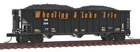 Trainman 90-Ton 3-Bay Hopper Wheeling & Lake Erie #504 N Scale Model Train Freight Car #50001338