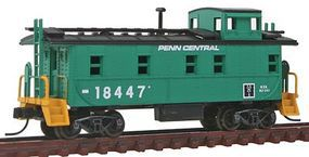 Trainman 34 Cupola Caboose Penn Central #18447 N Scale Model Train Freight Car #50001393