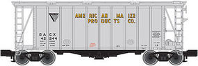 Trainman 40' Airslide Covered Hopper American Maize Products N Scale Model Train Freight Car #50001440