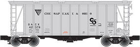 Trainman 40 Airslide Covered Hopper Chesapeake & Ohio N Scale Model Train Freight Car #50001442
