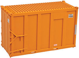 Trainman 20 High Cube Trash Container 4-Pack DSEU Set #5 N Scale Model Train Freight Car #50001686