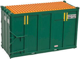 Trainman 20 High Cube Trash Container 4-Pack DSWU Set #2 N Scale Model Train Freight Car #50001691
