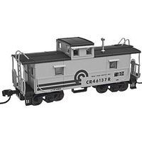 Trainman C&O-Style Steel Cupola Caboose Conrail #46114 N Scale Model Train Freight Car #50001773