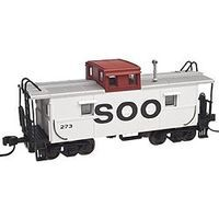 Trainman C&O-Style Steel Cupola Caboose Soo line #273 N Scale Model Train Freight Car #50001787