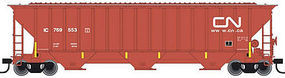 Trainman Thrall 4750 3-Bay Covered Hopper Canadian National N Scale Model Train Freight Car #50001793