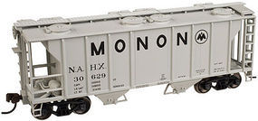 PS-2 2-Bay Covered Hopper Monon #30629 N Scale Model Train Freight Car #50001823