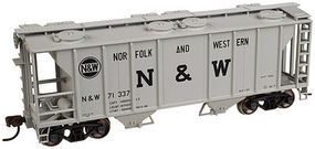 Trainman PS-2 2-Bay Covered Hopper Norfolk & Western N Scale Model Train Freight Car #50001825