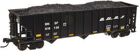 Trainman 90-Ton 3-Bay Hopper BNSF Railway #618212 N Scale Model Train Freight Car #50001834