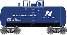 28' Beer Can Shorty Tank Car Nalco Chemical GATX N Scale Model Train Freight Car #50001860