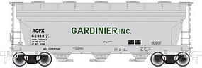 Trainman ACF 3560 Center-Flow Covered Hopper Gardinier, Inc. N Scale Model Train Freight Car #50001887