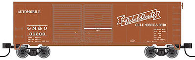 Atlas Trainman 40' Double-Door Boxcar Gulf, Mobile & Ohio #35249 -- N Scale Model Train Freight Car -- #50001920