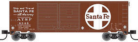 40' Double-Door Boxcar Santa Fe #6383 N Scale Model Train Freight Car #50001926