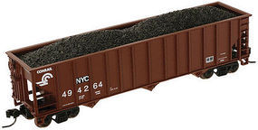 Trainman 90-Ton 3-Bay Hopper w/Load CSX NYC #494225 N Scale Model Train Freight Car #50002008