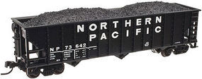 Trainman 90-Ton 3-Bay Hopper w/Load Northern Pacific #73666 N Scale Model Train Freight Car #50002013