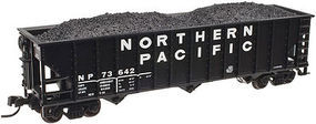 Trainman 90-Ton 3-Bay Hopper w/Load Northern Pacific #73672 N Scale Model Train Freight Car #50002014
