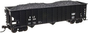 Trainman 90-Ton 3-Bay Hopper w/Load Bessemer & Lake Erie N Scale Model Train Freight Car #50002015