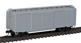 40' Double Door Boxcar Undecorated N Scale Model Train Freight Car #50002035