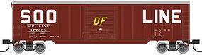 Trainman 50 Single Door Boxcar SOO Line #177060 N Scale Model Train Freight Car #50002363