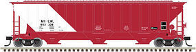 Trainman Thrall 4750 Covered Hopper Milwaukee Road #803324 N Scale Model Train Freight Car #50002815