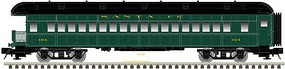 Trainman ACF Heavyweight 60' 5-Car Passenger Set Ready to Run Santa Fe (Pullman Green, black) N-Scale