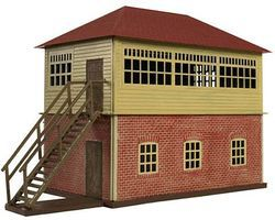 Trainman Interlocking Tower - Kit (Plastic) HO Scale Model Railroad Building #717